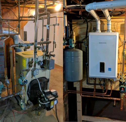 Oil to Gas Conversion - Before And After